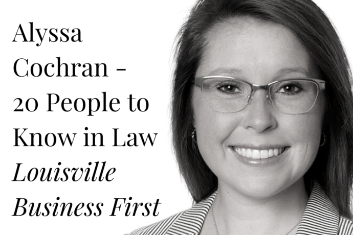 Alyssa Cochran Named to 20 People to Know in Law