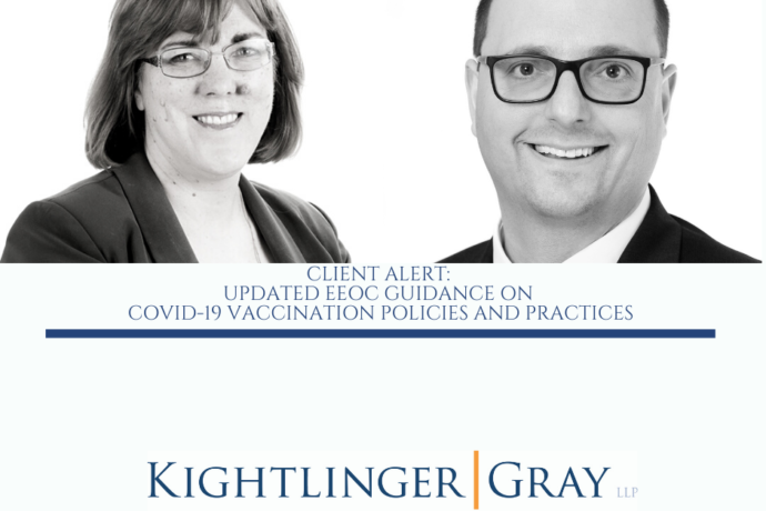 CLIENT ALERT:  UPDATED EEOC GUIDANCE ON  COVID-19 VACCINATION POLICIES AND PRACTICES